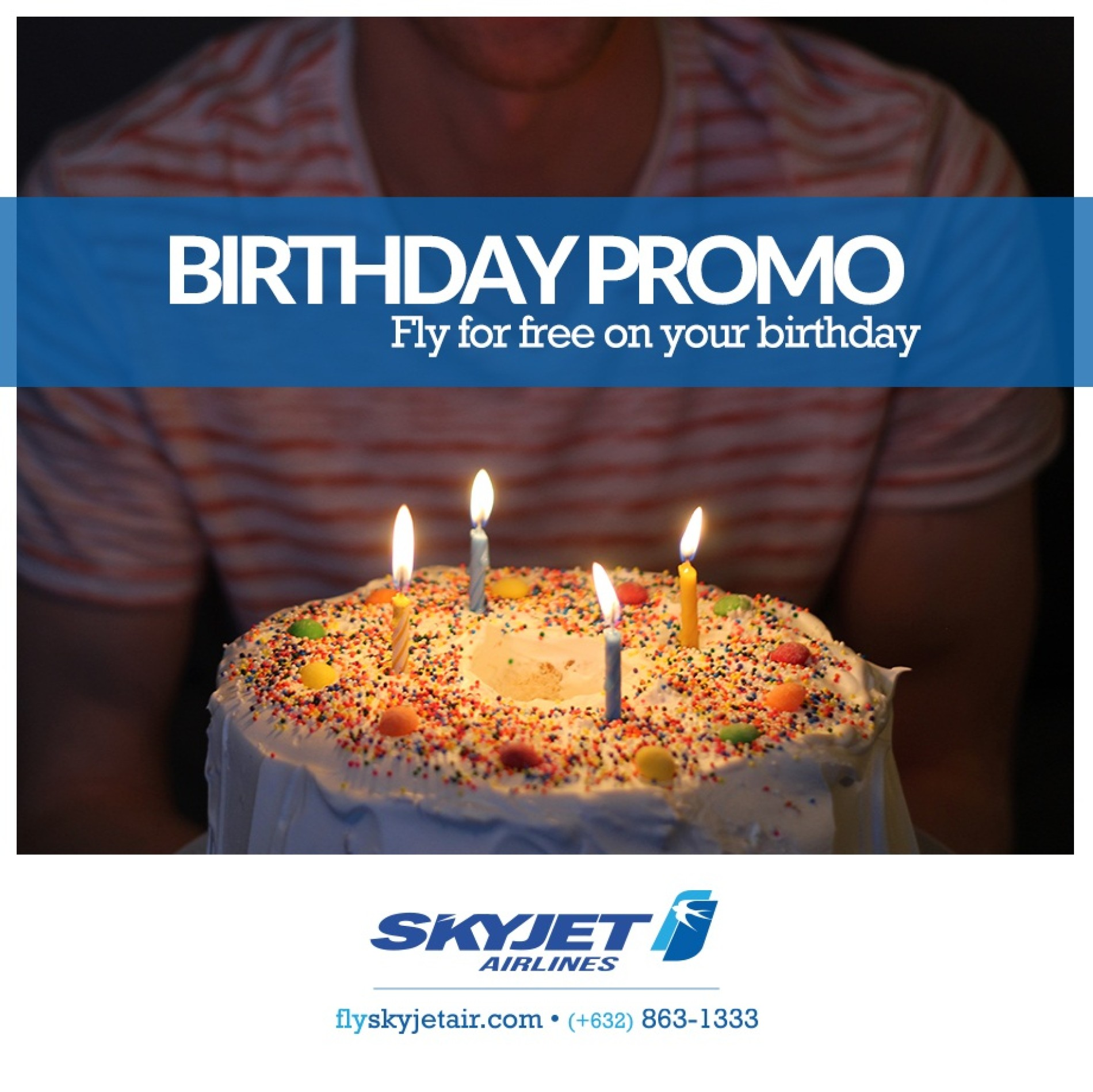 SKYJET Airlines Birthday Promo  FREE fly for on your Birthday