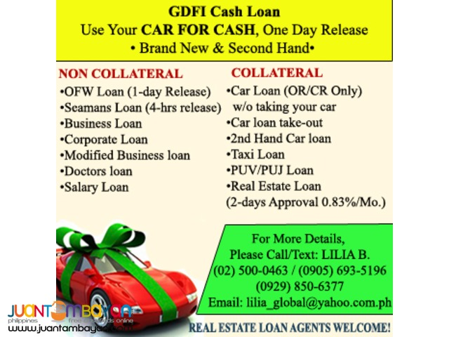 FINANCIAL SERVICES- LOANS AND MORTGAGES