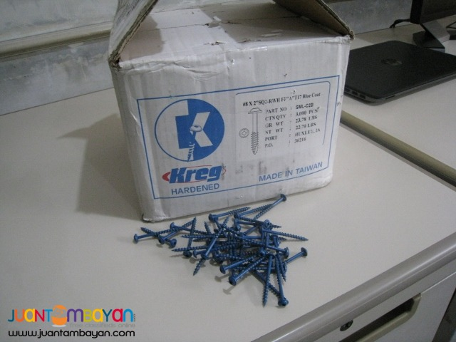 Kreg SML-C2B 2-inch Blue-Kote Coarse Screws - 50 pieces