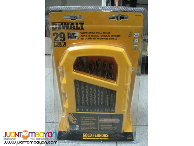 DeWalt DW1969 29-piece Pilot Point Twist Drill Bit Set