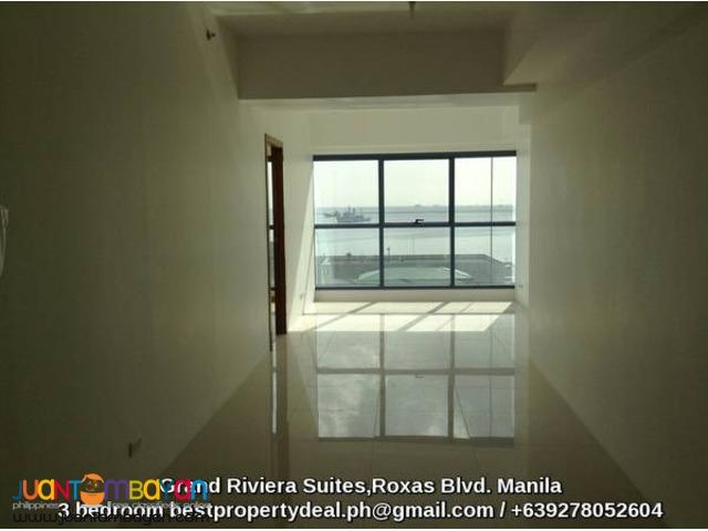 Elegant 3 bedroom condo in manila with glimmering bayview
