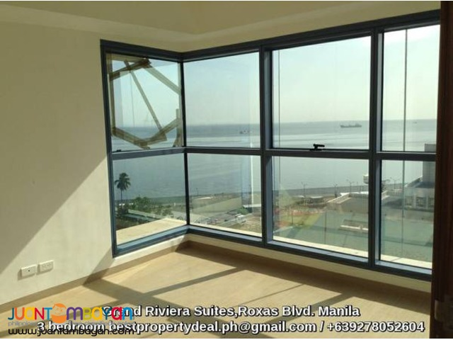 Elegant 3 bedroom condo in manila with glimmering bayview
