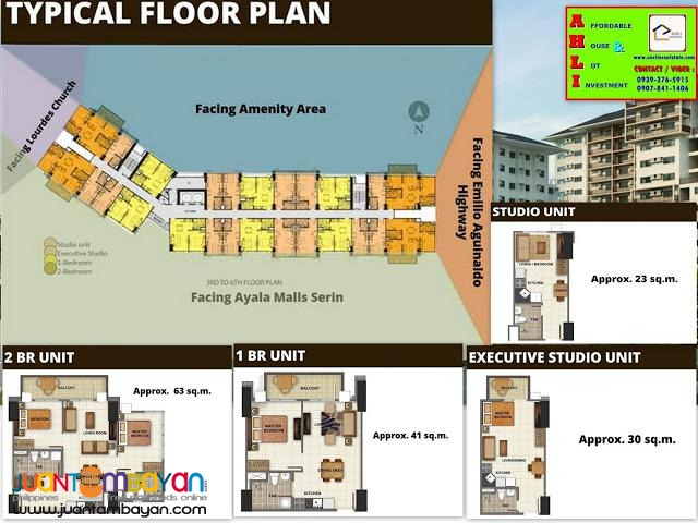 Studio, Ayala condominium in Tagaytay for sale