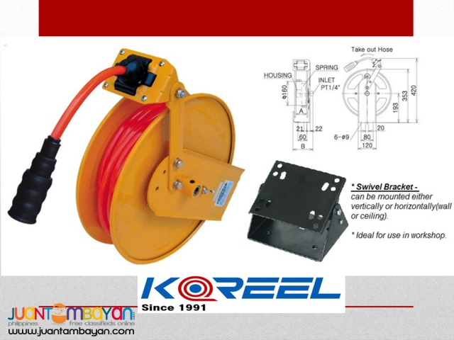 Auto Rewind Air Hose Reel (Koreel)