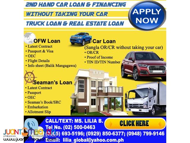 Car Loan/ Truck loan/Real Estate Loan