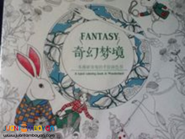 Adult coloring books Secret garden, Enchanted Forest and Fantasy