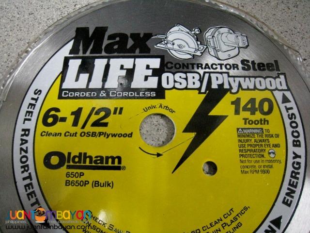 Oldham B650P 6-1/2-inch x 140-tooth OSB Plywood Saw Blade