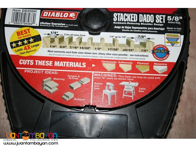 Freud DD208H Diablo 5/8-inch Arbor 12-tooth Stacked Dado Saw Blade Set