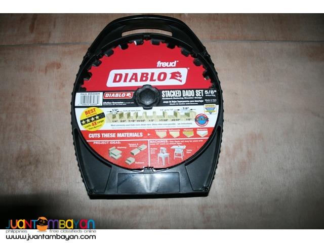 Freud DD208H Diablo 5/8-inch Arbor 12-tooth Stacked Dado Saw Blade Set