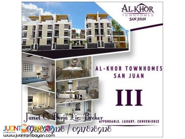 Al-Khor Townhomes San Juan Phase III - Pre Selling Townhouses
