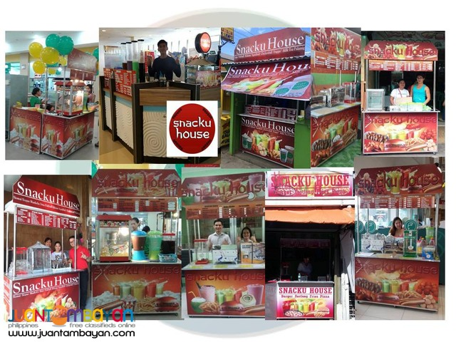 Snacku House and Rice Atbp food cart kiosk 4in1 open for franchise