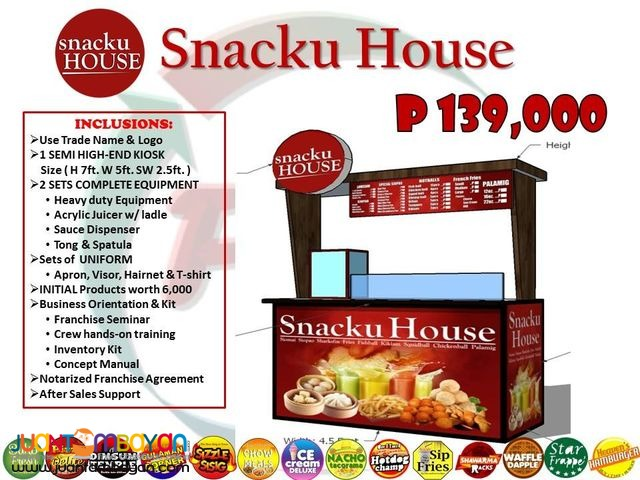 Snacku House and Rice Atbp food cart kiosk