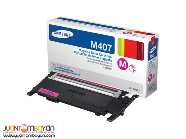 Original Toner Cartridge - SamsungCLT M407S Magenta CLP-320
