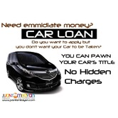 car loan -sangla / pawn or cr without taking your car - manila