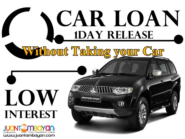 car loan pawn/sangla or cr / no co maker required / low int /-manila