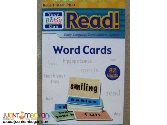 82pcs Word Cards of Your Baby Can Read
