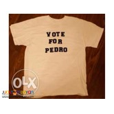 1 peso print for Election Shirt Printing Silkscreen