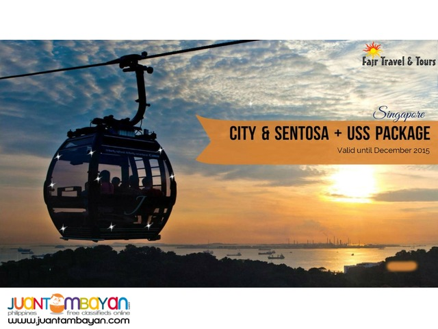 SINGAPORE CITY & SENTOSA + UNIVERSAL STUDIOS PACKAGE
