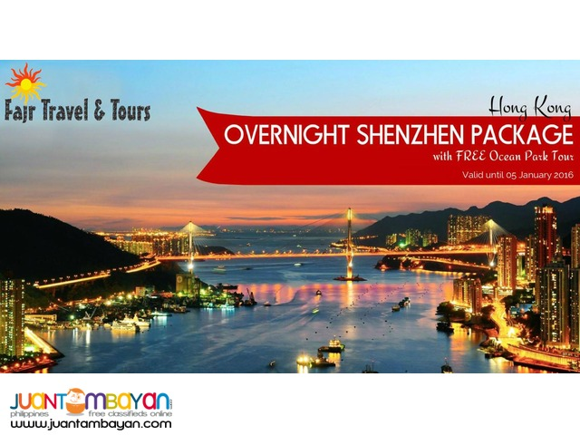 OVERNIGHT SHENZHEN with Free Ocean Park Tour