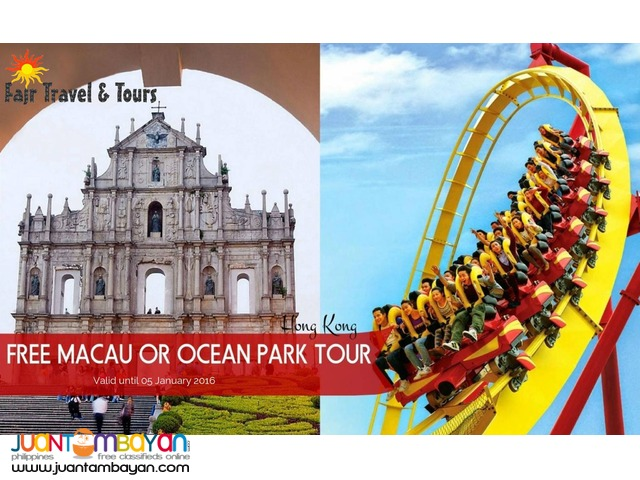 HONG KONG PACKAGE with FREE Macau or Ocean Park Tour