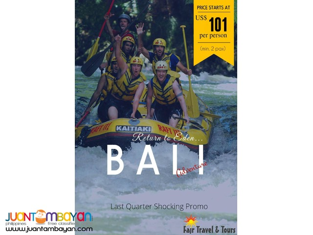 BALI ADVENTURE PACKAGE with Free Dinner