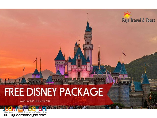 3D2N HONG KONG TOUR with FREE DISNEYLAND PACKAGE