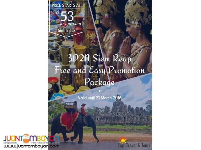 3D2N SIEM REAP PROMO PACKAGE