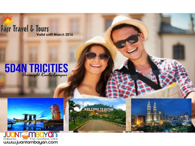 5D4N TRICITIES PACKAGE (Singapore + Malaysia + Indonesia)