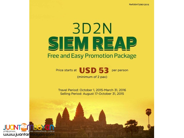 3D2N Siem Reap Free & Easy Package