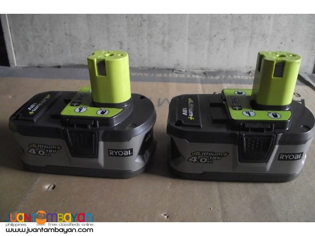 battery ryobi litium 18v