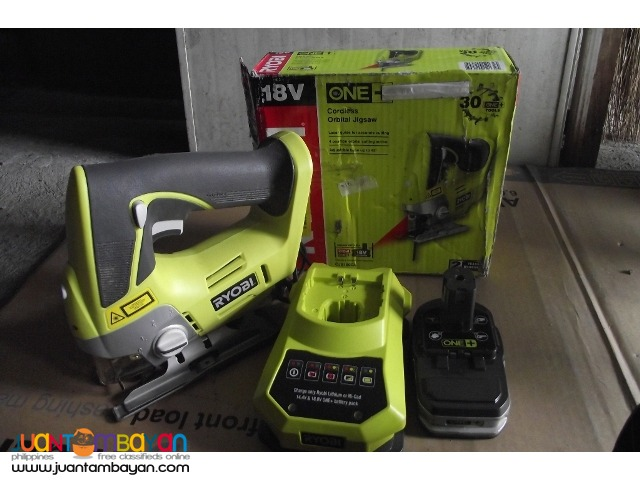 jigsaw cordless 18v laser guided with battery and charger brandnew