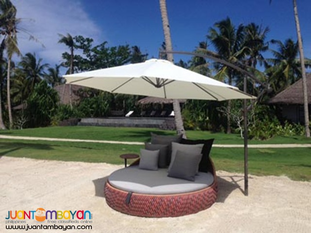 AU02 Round Banana Umbrella Cafe Coffee Shops Pool Garden Beach Patio