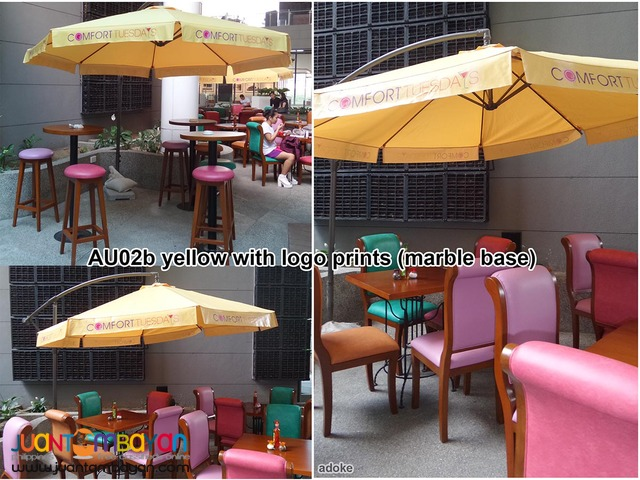 Au02 Round Banana Umbrella Cafe Coffee Shops Pool Garden