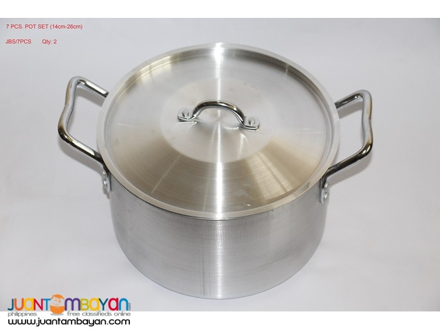 7 PCS POT SET (14cm-26cm)