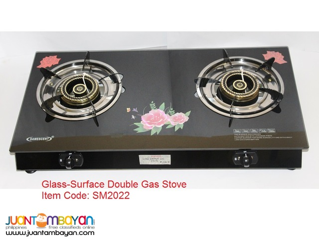 GLASS-SURFACE DOUBLE GAS STOVE