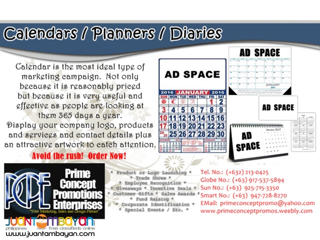 Commercial Calendars / Table Calendar / Planner