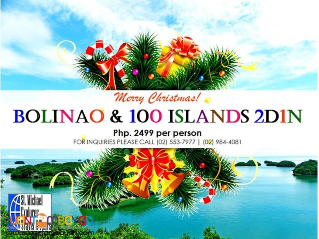 BOLINAO & HUNDRED ISLANDS TOUR PACKAGE