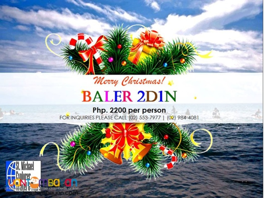 BALER TOUR PACKAGE