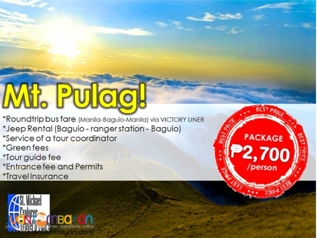 Affordable Mt. Pulag Tour Package