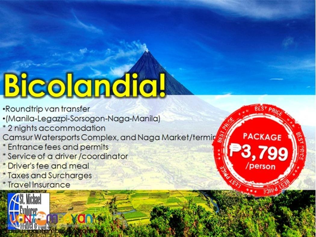 Explore BICOLANDIA tour (Legazpi + Sorsogon + Naga)