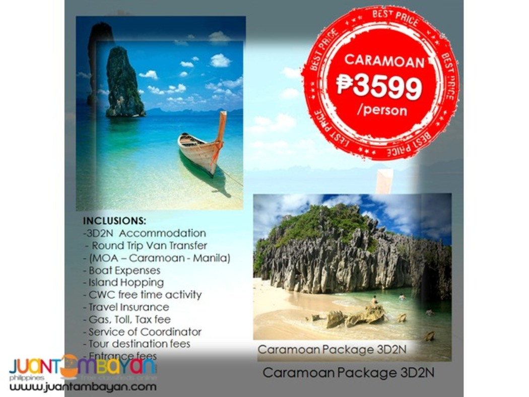 Affordable CARAMOAN + CamSur WaterSports Complex 3D2N