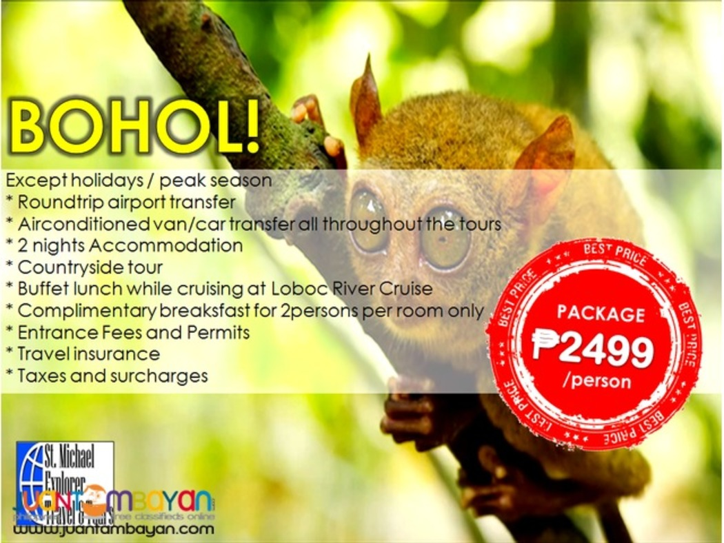 Affordable BOHOL Tour Package 3D2N