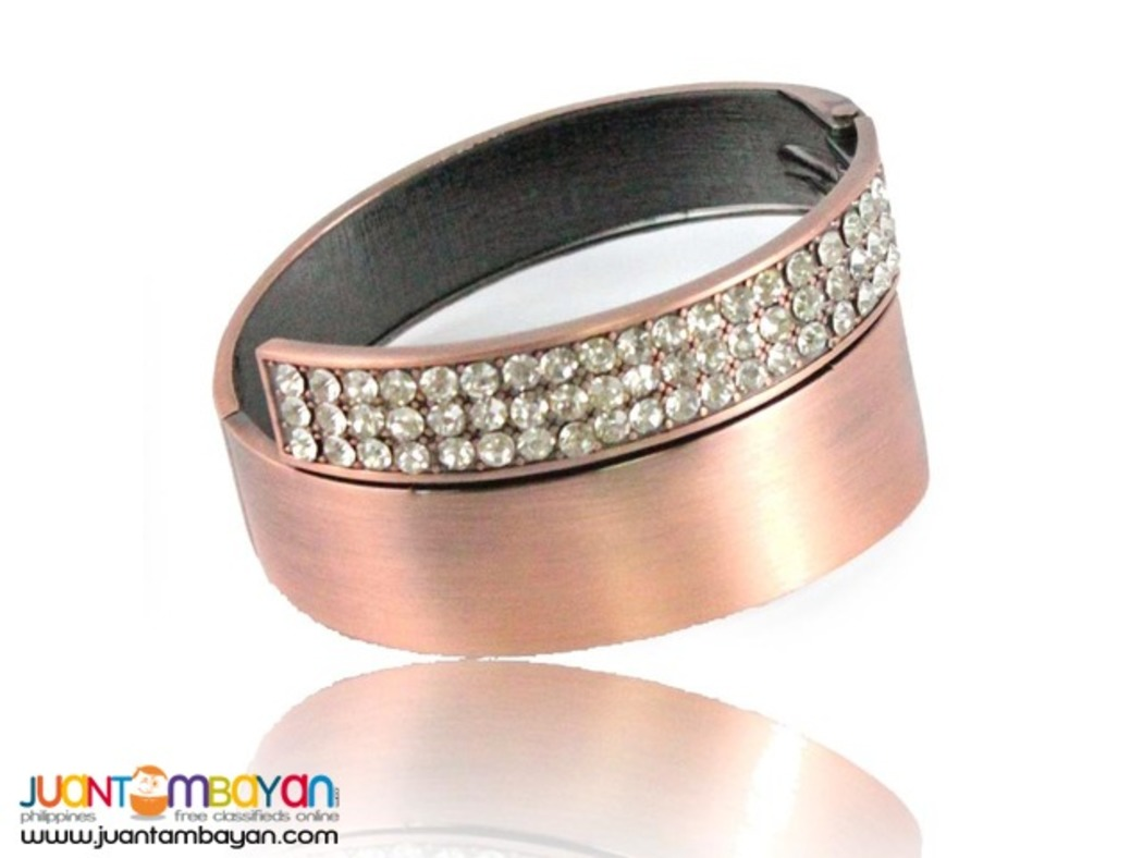 Bangle With Stone Stud Detail