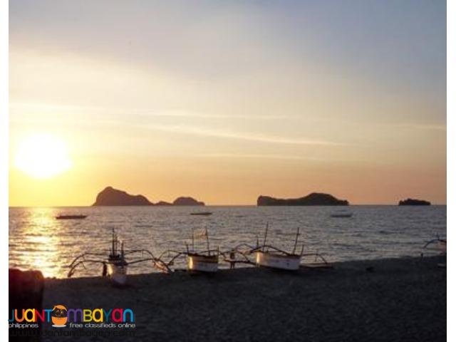 Anawangin package, beachfront resort with pool