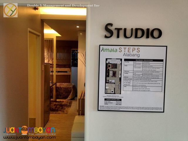 Studio Condo Unit in Alabang by Amaia
