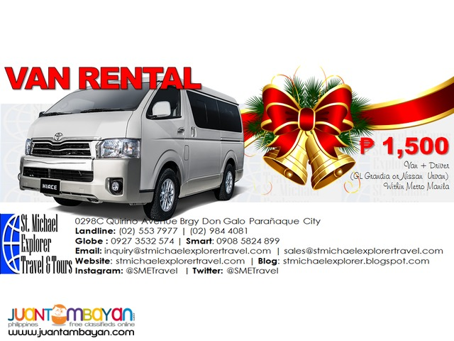 Van Rental package