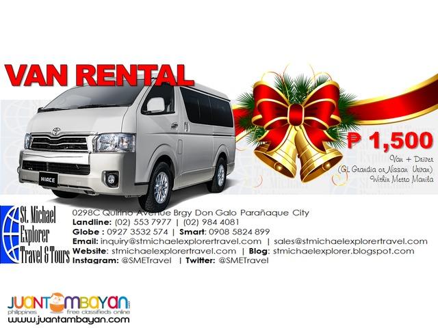 Van Rental package