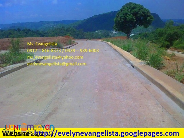 Res. lot for sale in Brgy.Inarawan Antipolo City Oro Vista Grande