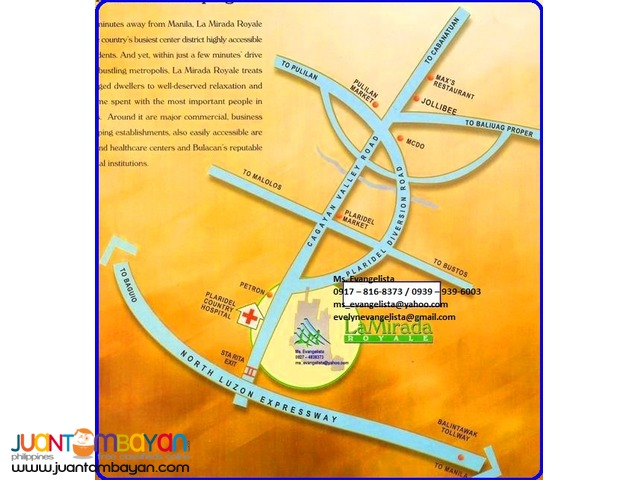 Res. lot for sale in Plaridel Bulacan La Mirada Royale