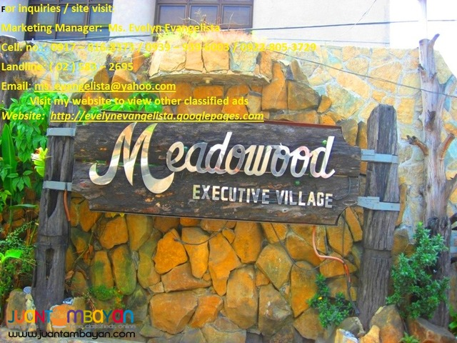 Res. lot for sale in Bacoor Cavite Meadowood Exec. Village